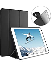 Luvfun Case for iPad 9.7 2018/2017, Case for iPad 6th Generation/5th Generation Slim Lightweight Smart Cover for 2018/2017 iPad 9.7 5th / 6th Generation -Black