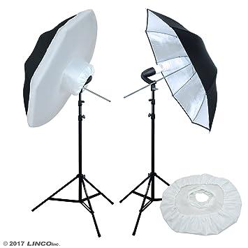 9534bdd07a91 Amazon.com : LINCO Photo Studio Lighting Umbrella Kit for Portrait ...