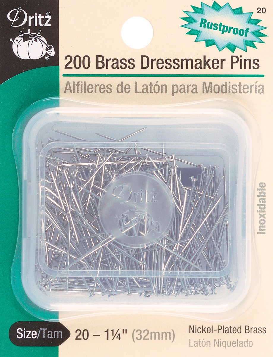 Dritz Dressmaker Pins: Size 20, 200/Pkg.