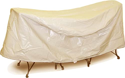 Protective Covers Weatherproof Patio Table and Chair Set Cover, 30 Inch x 36 Inch, Round Table, Tan – 1338-TN