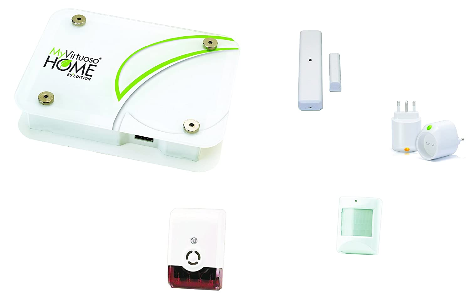 Kit de domotica Alarma Base myvirtuoso Home ES2: Amazon.es ...