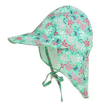 01ad10f82f6 Toddler Girls Boys Legionnaire Flap Cap with Neck Cover Swim Hat Wide Brim Sun  Hat Summer