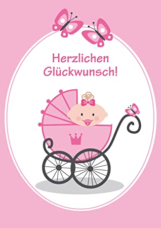 A 4 Glückwunschkarte Baby Zur Geburt Eines Mädchen Lustige Xxl