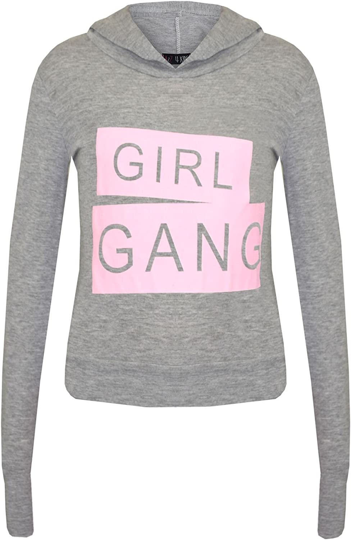 A2Z 4 Kids/® Girls Top Kids Designers Girl Gang Print Trendy Hooded Crop Top /& Fashion Legging Lounge Wear Set New Age 7 8 9 10 11 12 13 Years