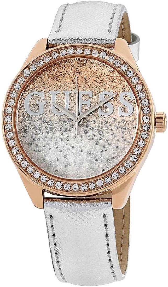 Guess Reloj Análogo clásico para Mujer de Cuarzo con Correa en Cuero W0823L7