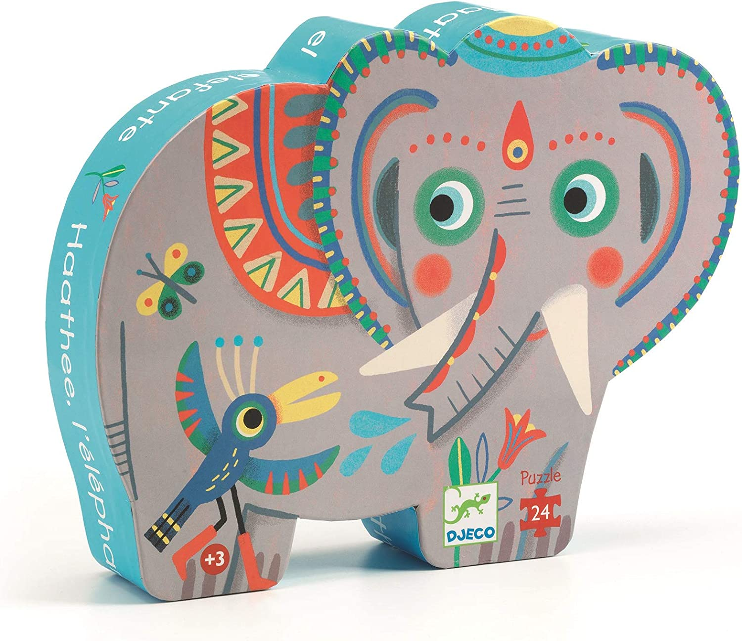 DJECO Haathee Asian Elephant Silhouette Jig Saw Puzzle