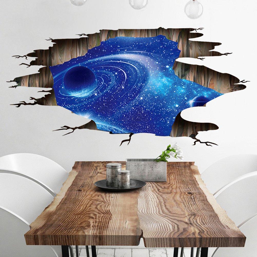 Amazon Chu チュッ ウォールステッカー 宇宙 壁紙 星空 トリック