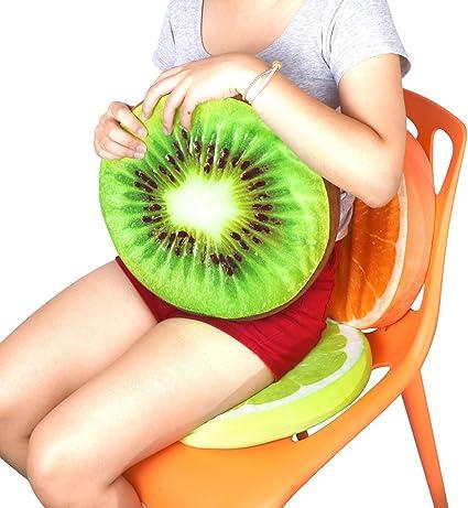 3D Fruit Print Home Office Chair Car Seat Back Pads Cushion Plush Throw Pillow