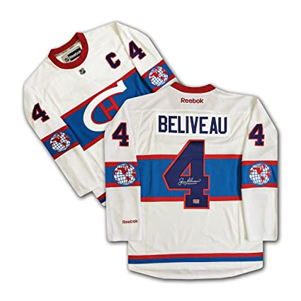 sports shoes eca2d df09a Jean Beliveau Signed Winter Classic MTL Canadiens Jersey ...