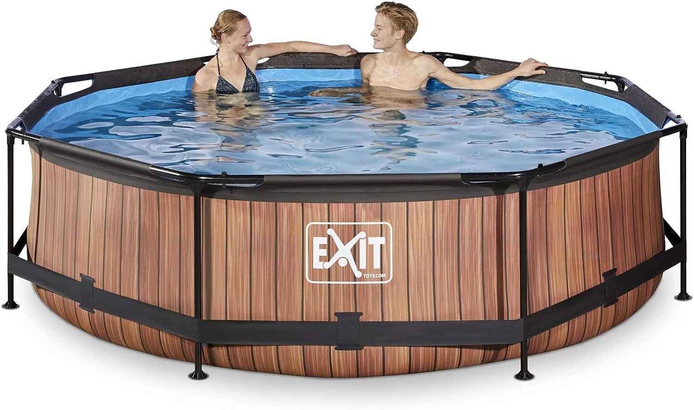 EXIT Wood Pool ø300x76cm with Filter Pump - Brown - Piscina ...