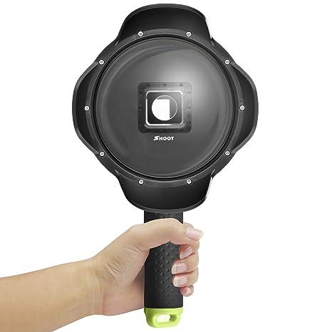 SHOOT Cúpula 6 Pulgada Subacuático Dome con Carcasa para Xiaomi Yi 4K/4K+ Cámara de Acción