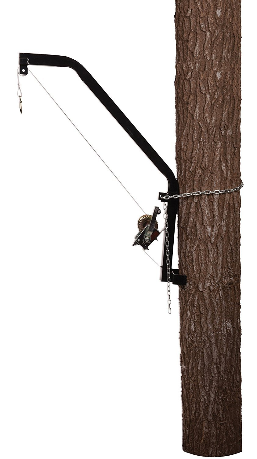 Moultrie Hanging Feeder Hoist | Chain-and-bracket Design | 300 lb. Capacity