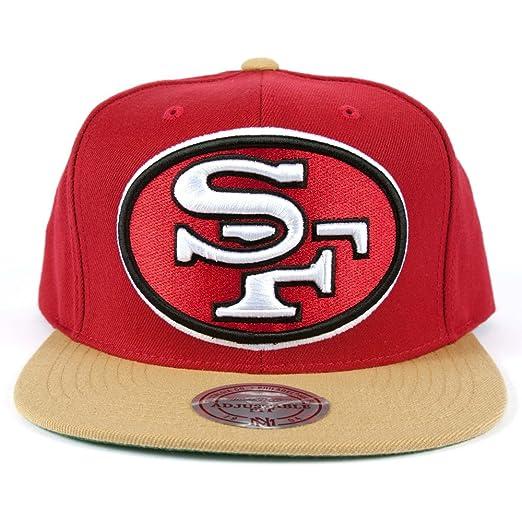 sale retailer 29aee d69c6 Mitchell & Ness Men's San Francisco 49ers XL 2 Tone Snapback