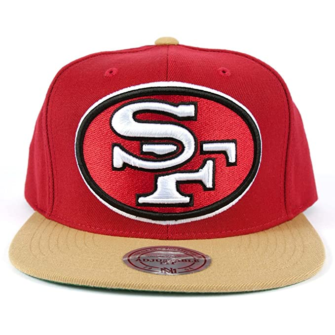 92fe8bd1a ... red green 2217b official store mitchell ness mens san francisco 49ers  xl 2 tone snapback one dce67 ee8c7 ...