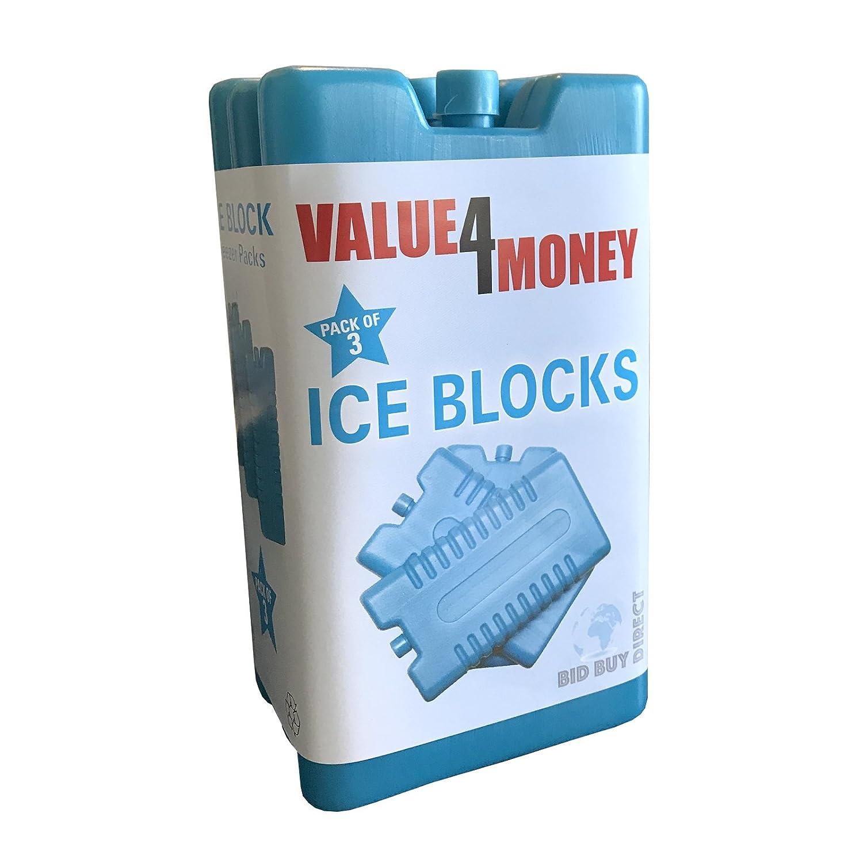 Pack de 3/6 bloques para el congelador (enfría y mantiene los ...