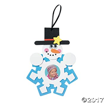 Amazon.com: Snowman Photo Frame foam Ornament Craft Kit - Crafts for ...