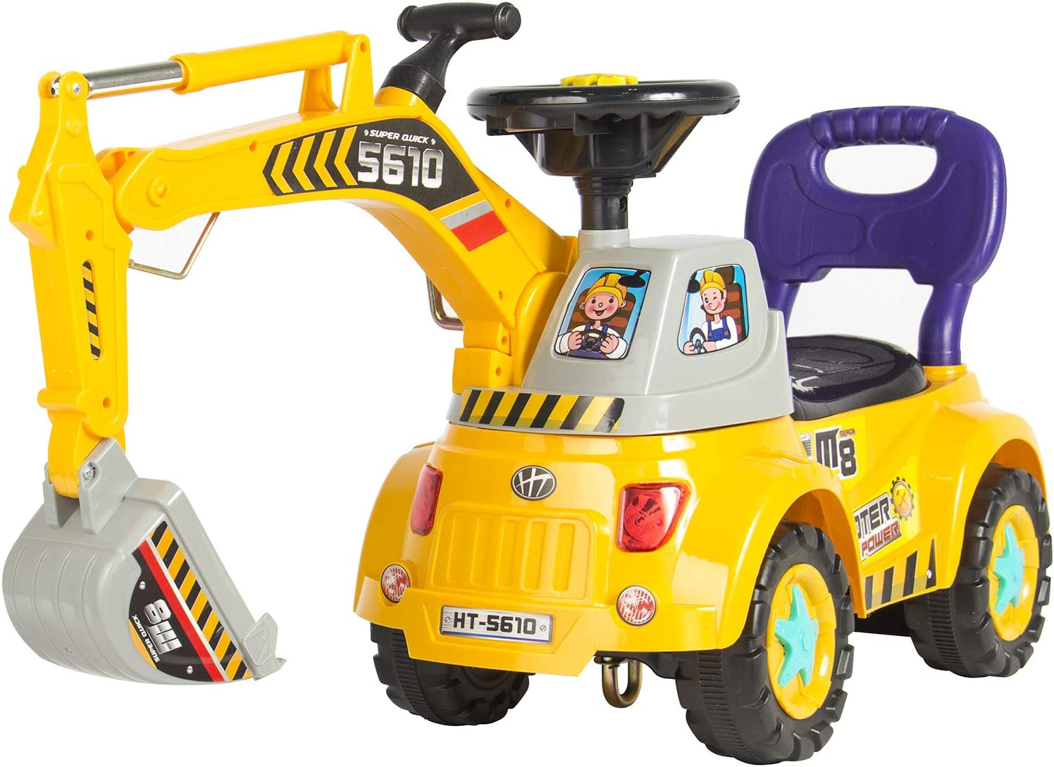 Best Choice Products Kids Excavator Ride