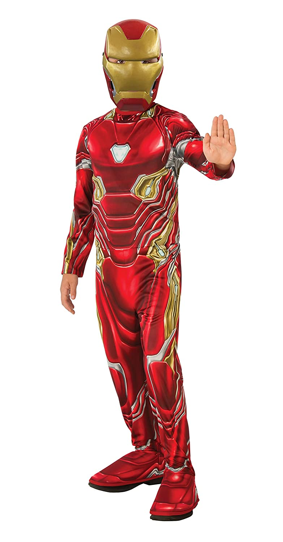 Avengers - Disfraz oficial de Iron Man para niños, Infinity War, talla 5-7 años (Rubies 641051-M)