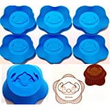 Set of 6 Sitich Silicone Molds Muffin Baking Cup Cupcake Liner