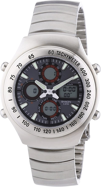 Shaon KIENZLE - Reloj de cuarzo para hombres, color plata