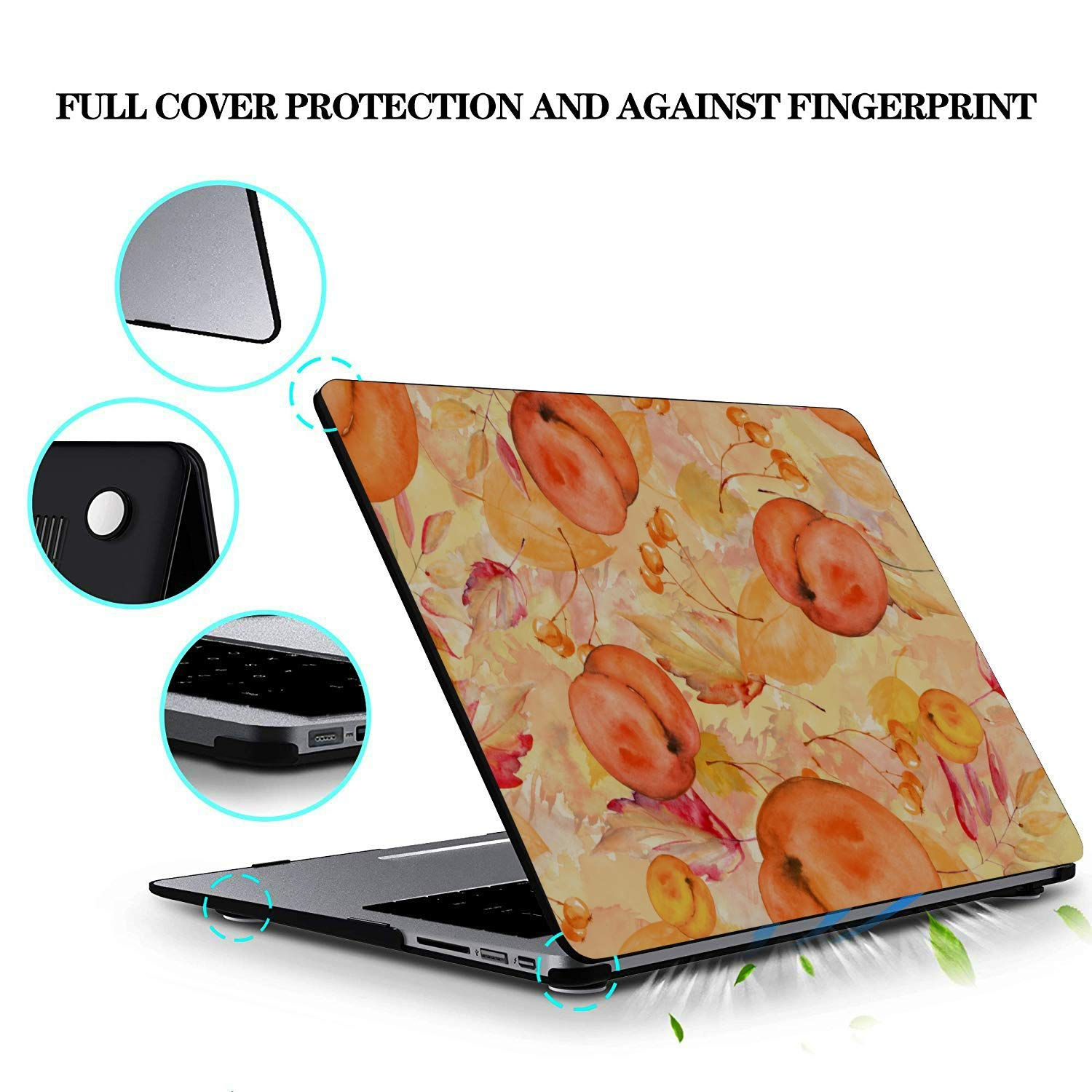 MacBook Pro 15 Case Summer Sweet Fruit Yellow Peach Canned Plastic Hard Shell Compatible Mac Air 11 Pro 13 15 MacBook Hard Case Protection for MacBook 2016-2019 Version