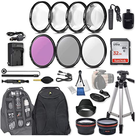 58 mm 28 pc Kit de Accesorios para Canon EOS Rebel SL2, 200d ...