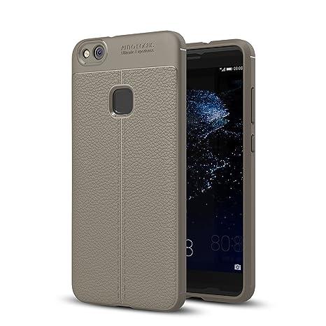 Funda Huawei P10 Lite, Leathlux Carcasa Cuero Silicona TPU ...