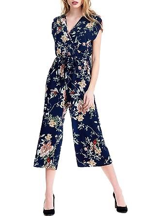 Professionel ziemlich billig hochwertige Materialien Only Damen Jumpsuit Terra Culotte Blumen Allover-Print