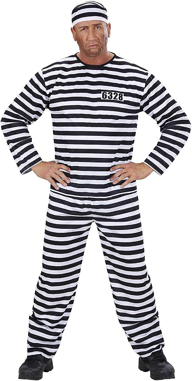 WIDMANN Widman - Disfraz de preso adultos, talla L (39093) , color/modelo surtido