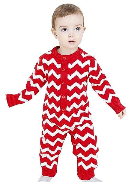 Kookoohouse Pelele Ropa de Una Pieza Sleepwear Bodies para Bebé Unisex Recién Nacidos Calentitos Rojo,