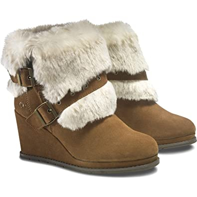 By Caterpillar Wedge Faux Fur Womens Boots