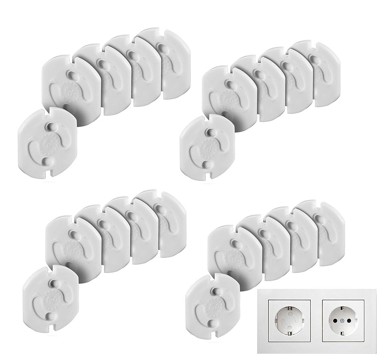 Tapones de seguridad para enchufes (20 unidades), color blanco by DELIAWINTERFEL