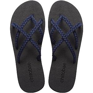 7301d326c chitobae Flip Flops Sandal for Women