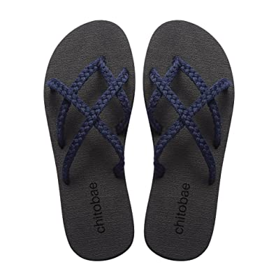 a68d03d256c0 chitobae Flip Flops Sandal for Women Blueberry 6 B(M) US