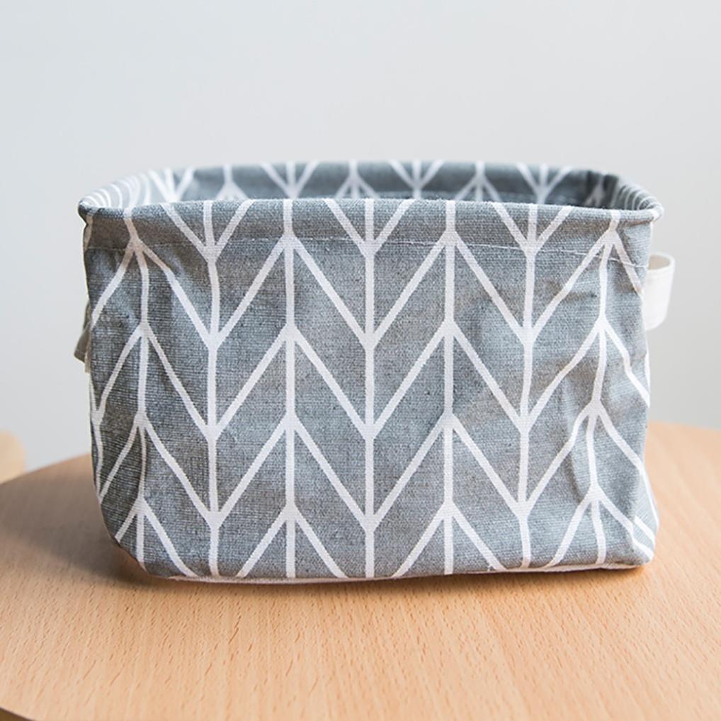 XEDUO Kitchen Bathroom Foldable Sundries Storage Bin Bag Closet Toys Container Pockets Pouch Organizer Fabric Basket Home Decor 20 15 13cm (Grey)