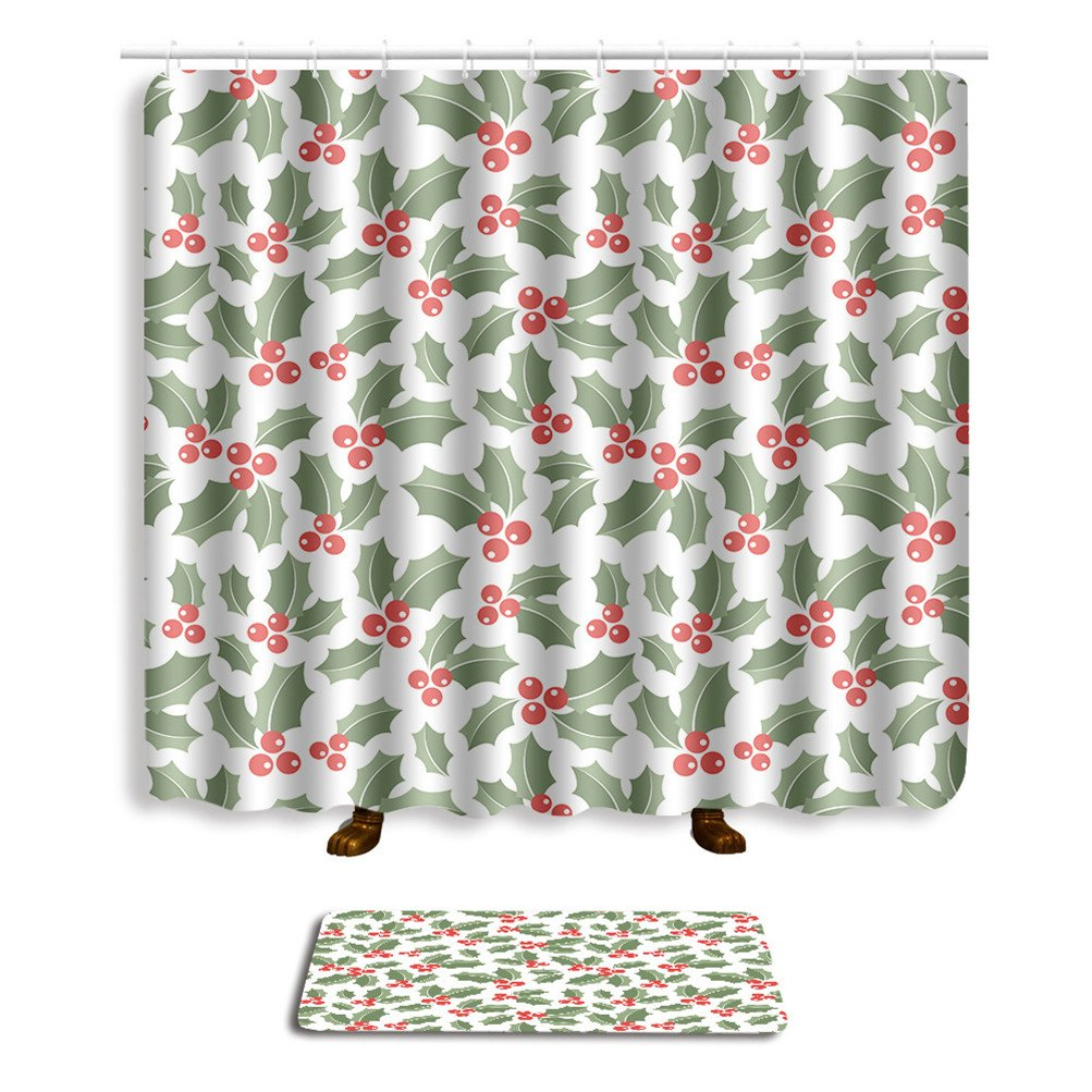 Bathroom Sets Shower Curtain Hooks Shower Rugs Polyester Fabric Marriage Gifts for Men and Women (three) by Mrsrui