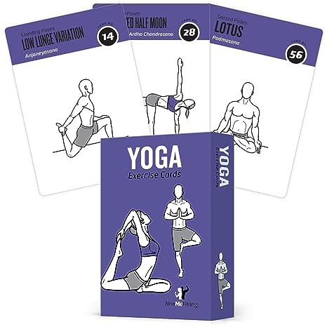 Yoga Ejercicio tarjetas – 70 poses de Yoga para la construcción de fuerza | aumentar energía | fuerza muscular | una buena noche de sueño – Yoga ...