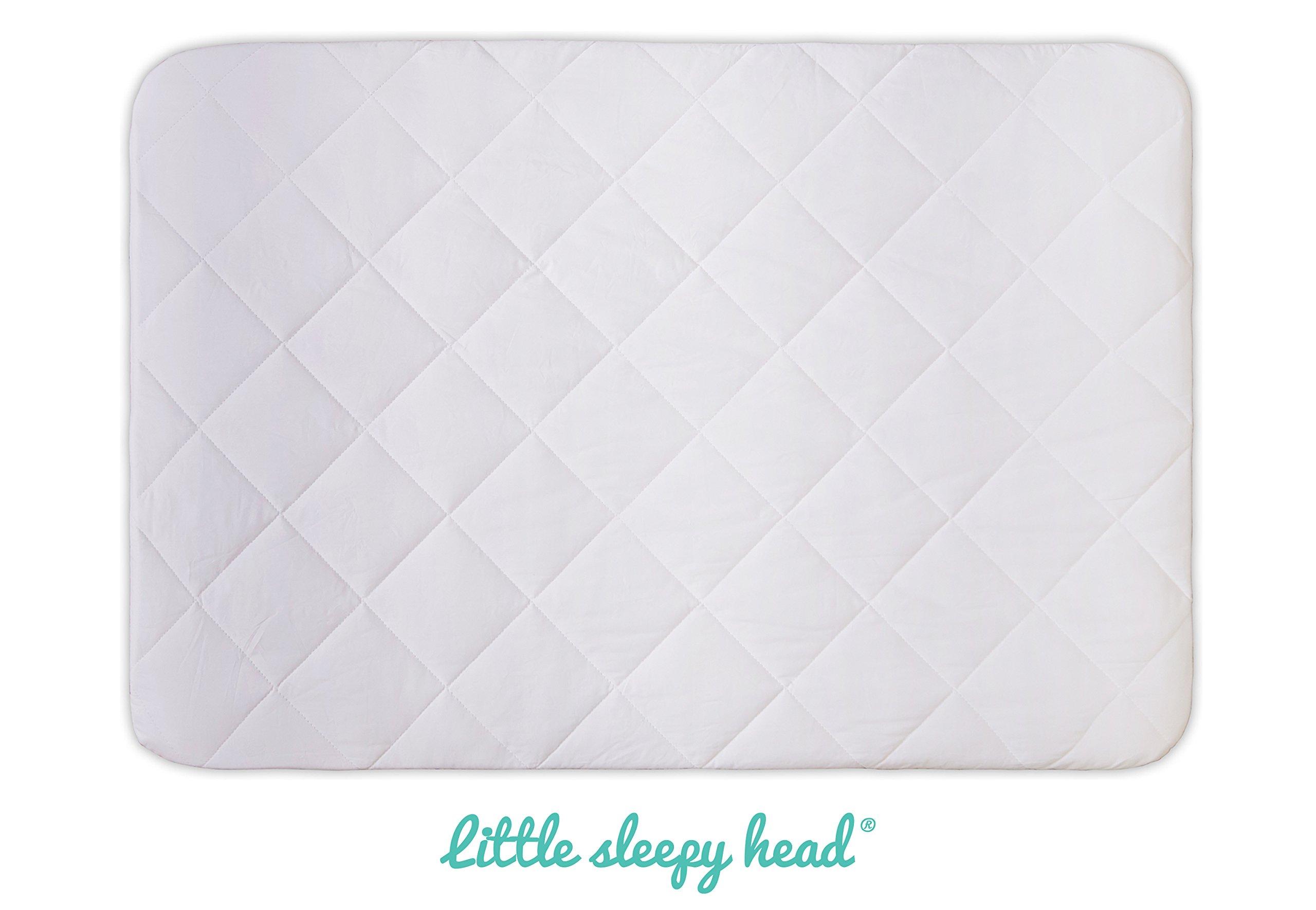 Soft, Waterproof Portable Crib Mattress Protector/Pad for Pack n Play & Play Yards