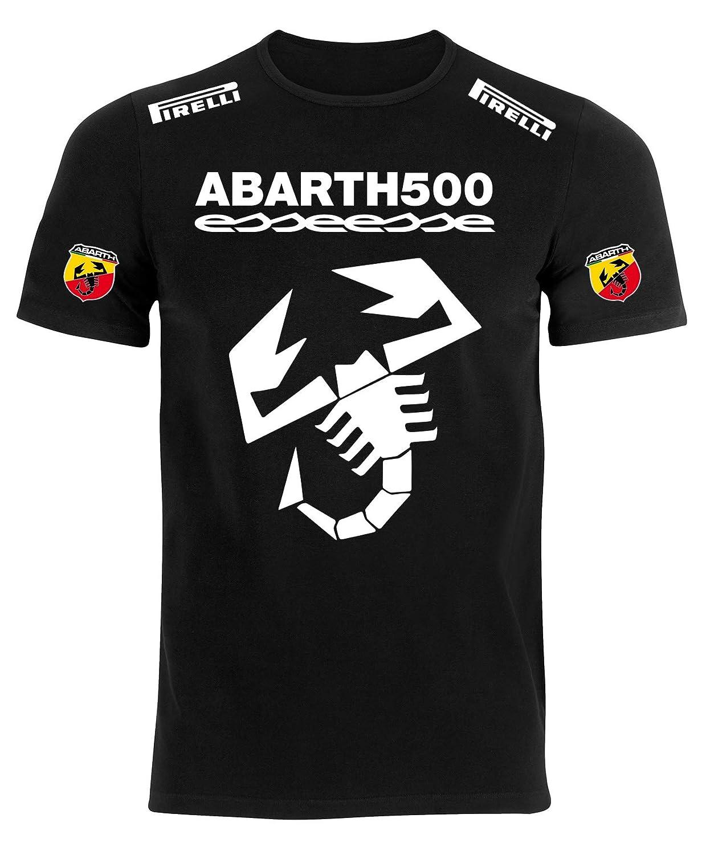 REITANO GROUP Camiseta Estilo Abarth 500 Fiat Coche Rally Racing T ...