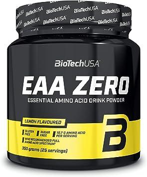 BioTechUSA EAA Zero Suplemento dietético con sabor, bebida en polvo con aminoácidos esenciales, L-glutamina y edulcorantes, 350 g, Limón