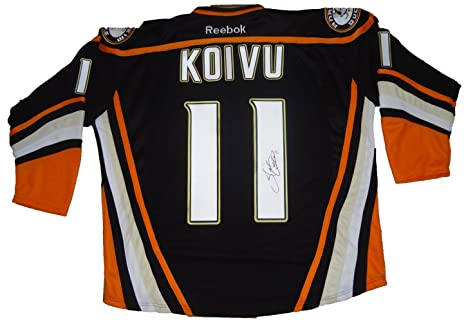 Image Unavailable. Image not available for. Color  Saku Koivu Autographed Anaheim  Ducks Black Jersey ... c46a6aa0a