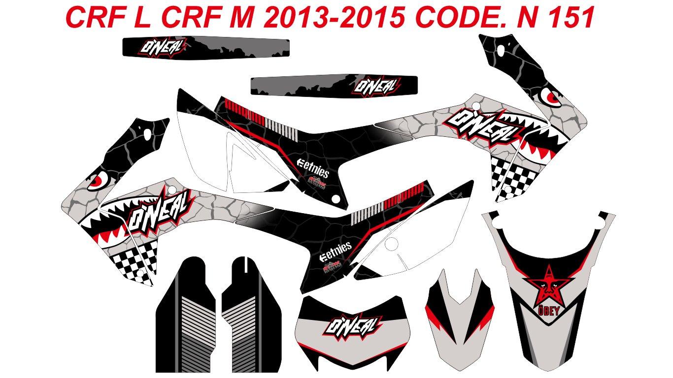 N 151 HONDA CRF 250L CRF 250M 2012-2016 DECALS STICKERS GRAPHICS KIT