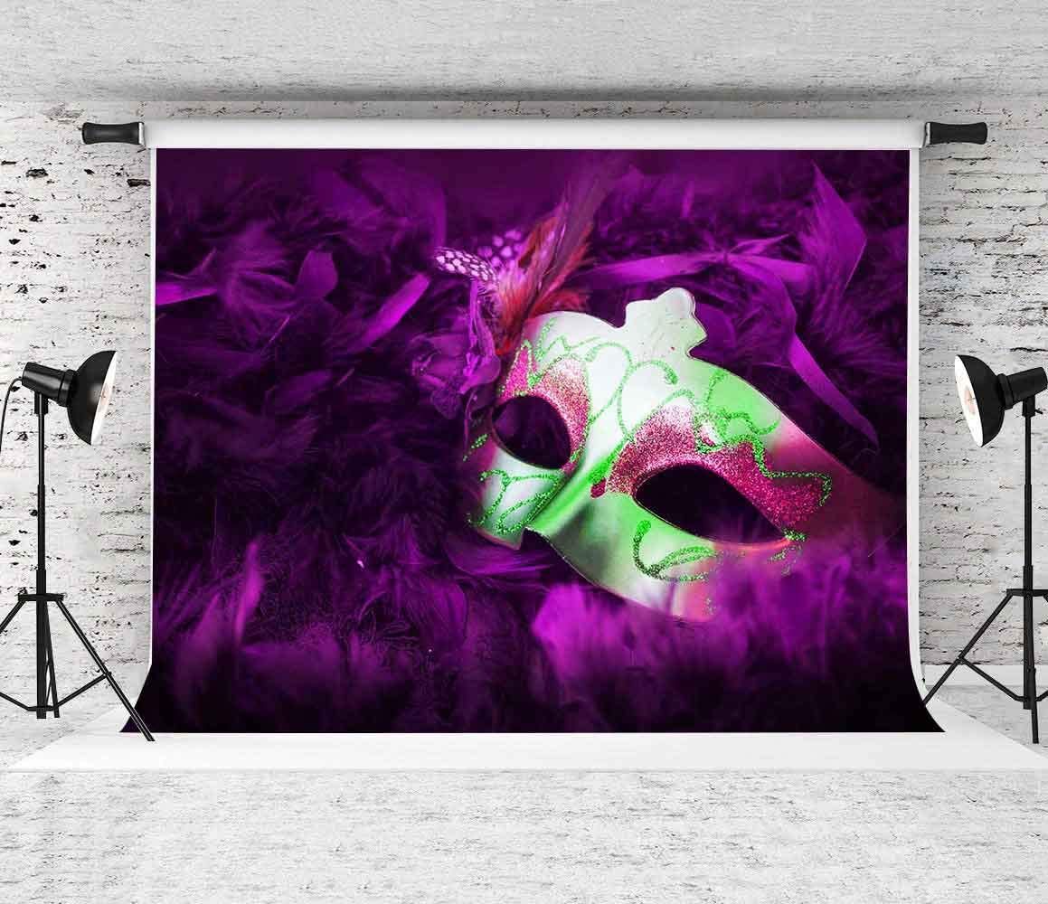 SZZWY 8x6.5ft Masquerade Party Backdrop Mysterious Carnival Photography Background Mardi Gras Photo Golden Mask Birthday Dancing Party Decor Costume Party Photo Wallpaper