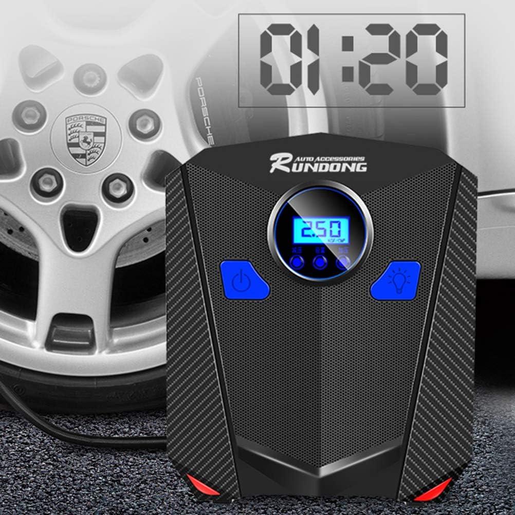 Vosarea Auto Luftkompressor Pumpe Auto Reifenf/üller Mini Elektrische Digitale Reifen Aufblasbare Pumpe f/ür Auto Fahrzeug Zyklus Reifen