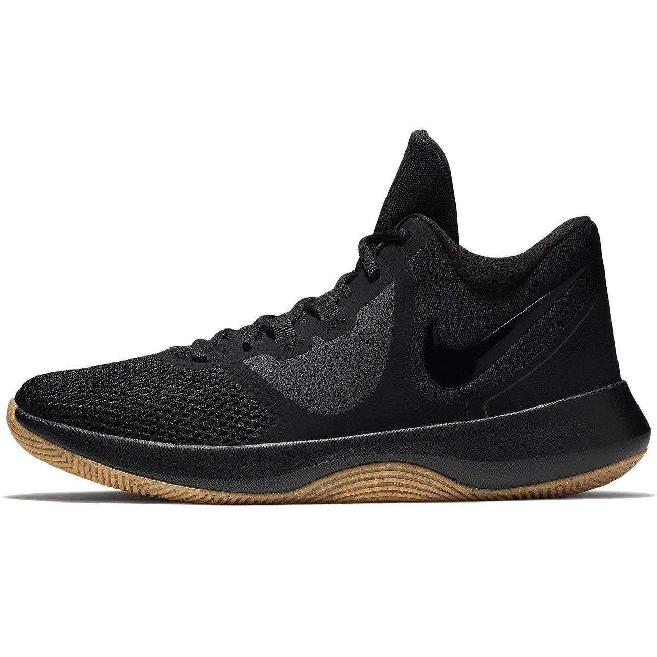 Nike Air Precision Basketballschuhe Schwarz Weiß 001