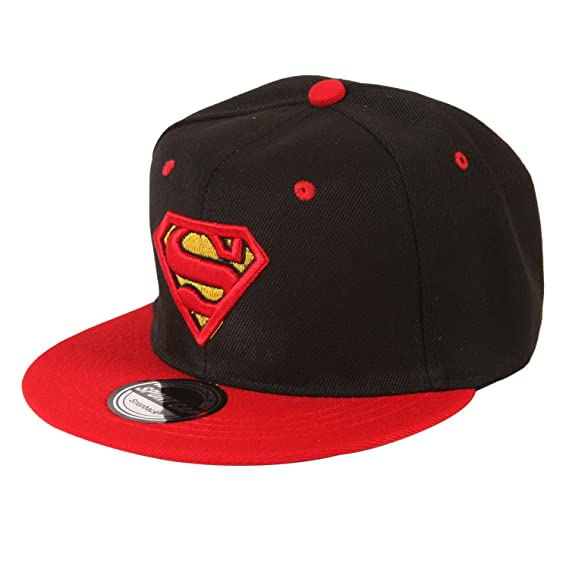 9f0ecb00268 ILU Superman Men s Snapback Hiphop Cap Black and Red Freesize  Amazon.in   Clothing   Accessories