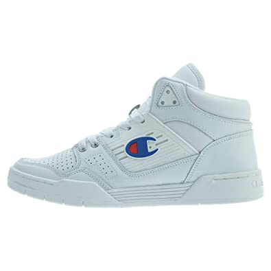 dd151b96a5e03 Amazon.com | Champion 3 On 3 Mens White Leather Lace Up Sneakers ...