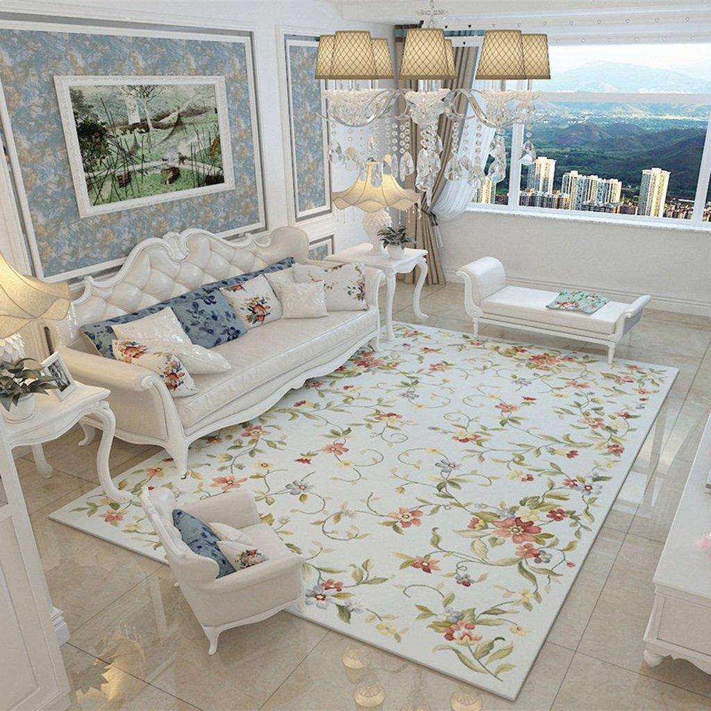 European Style Garden Style Bedroom Coffee Table Sofa Large Carpet Living Room Non-slip Door Mat Creative Rectangular Not Fade Carpet ( PATTERN : D , Size : 200cm×300cm )