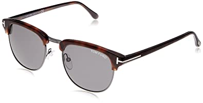 25ae74aec71 Tom Ford Henry FT0248 Sunglasses-52A Light Ruthenium Havana (Gray Lens)-
