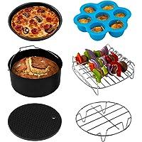 COSORI Air Fryer Accessoires Set, geschikt voor alle merken 5.5L, 6 Pack inclusief taartpan/pizzapan/metalen houder…